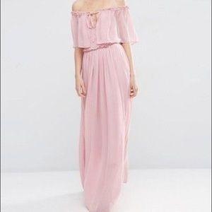 9d6debc937 ASOS Dresses | Ruffle And Tiered Off Shoulder Maxi Dress | Poshmark